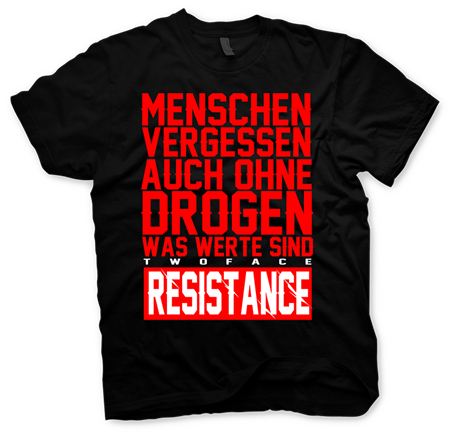 "Picture of Two Face Resistance ""Menschen vergessen"" Shirt"