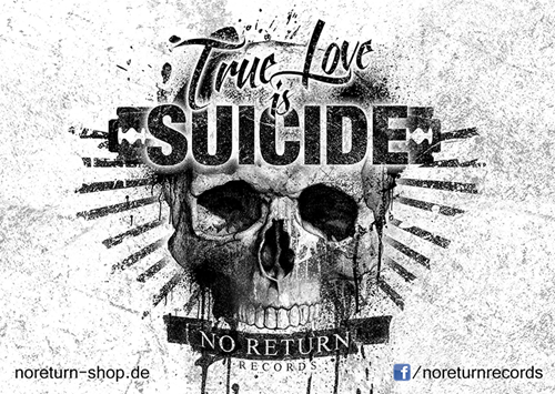Picture of TRUE LOVE IS SUICIDE - STICKER, Picture 1